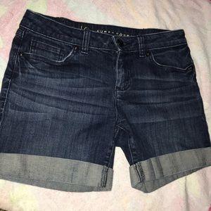 Lauren Conrad cuffed denim jean shorts